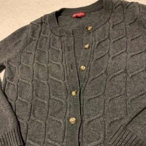 Target Merona Gray Woven Cardigan with Buttons